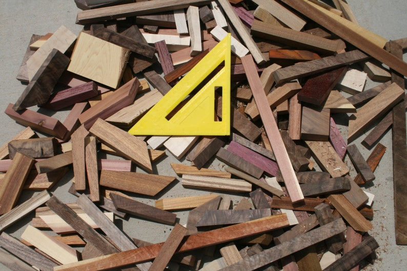 Box of Scrap Wood for Projects USA shipping Included image 0