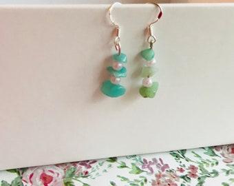 Lovely amazonite earrings