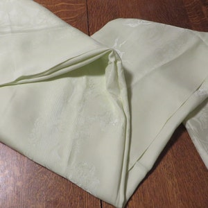 Tablecloth Large Dark Moss or Sage Green Tone on Tone Fabric Poly Cotton Rayon Blend   Thanksgiving Tablecloth Rectangular by Belle Maison