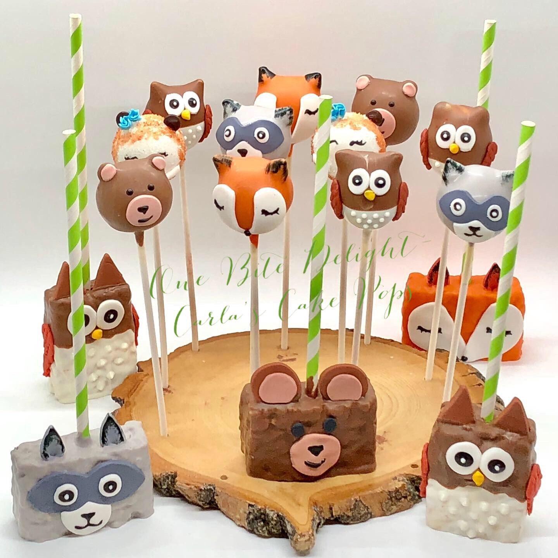 http://www.thecakepoppery.com/ | Fox cake, Cake pops, Wolf ... |Woodland Cake Balls