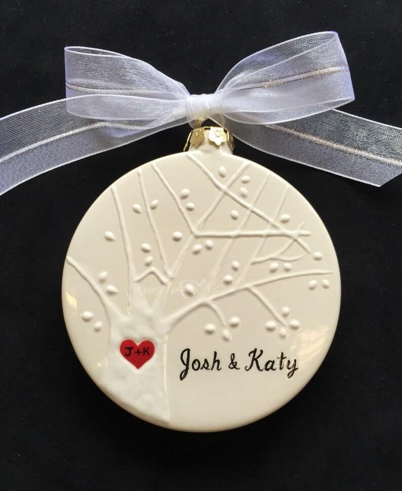 Engagement Engagement Christmas Ornament Wedding Anniversary gift Christmas