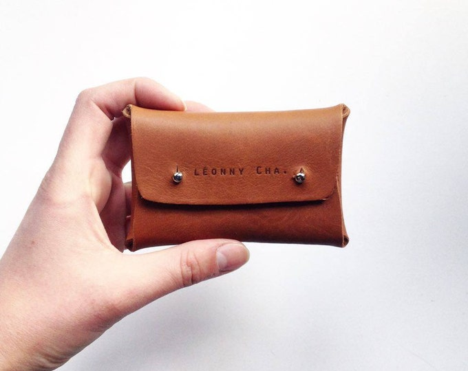 Featured listing image: card holder / purse / leather goods / Léonny Cha