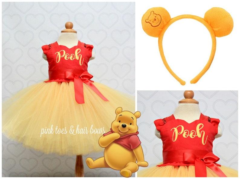 6f8de5fa0 Winnie the pooh Costume-Winnie the pooh tutu dress-Winnie the | Etsy