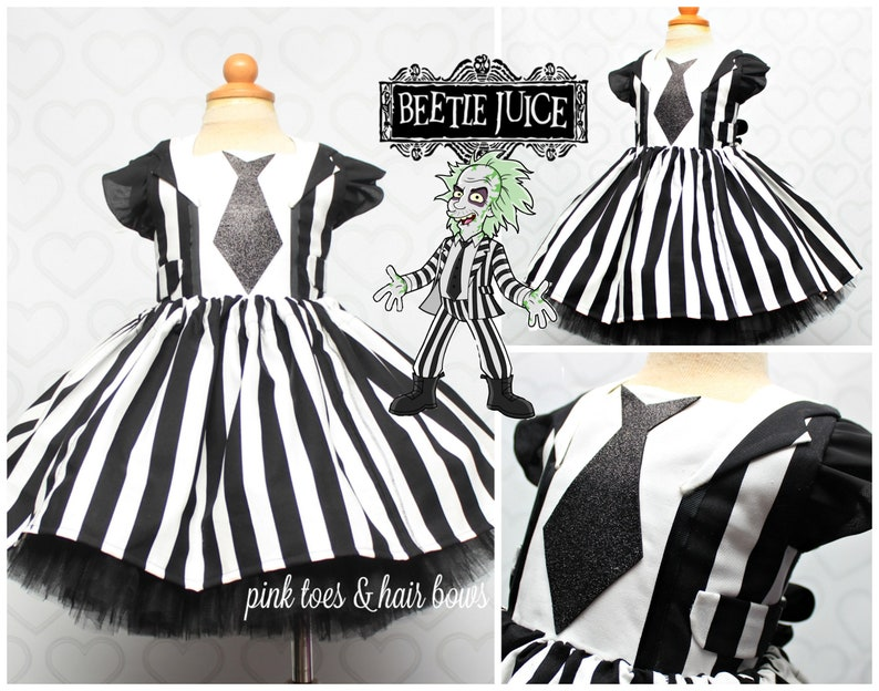 Beetlejuice Tutu Dress Beetlejuice Dress Beetlejuice Etsy