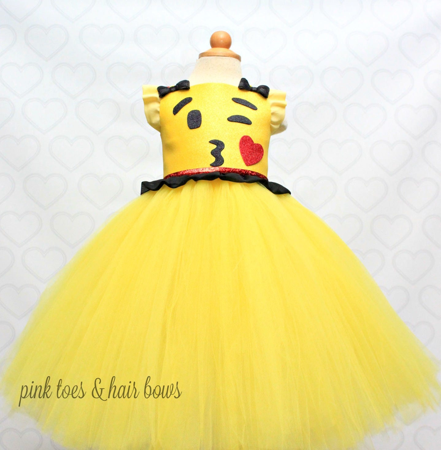 Robe Kiss Tutu Emoji Dress Anniversaire Costume OZuPXik