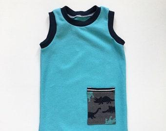 12-18M Baby - Dinosaur Romper - Unisex Romper - Baby Boy Romper - Dinosaur Romper - Eco Baby Gift - Snap Romper - Summer Boy Outfit