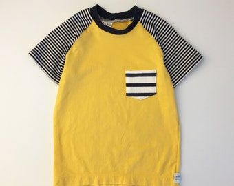 2T Boy - Eco Kids - Eco Boys Clothes - Recycled Boys Tshirt - Upcycled Kids Clothes - Boys T-shirt - Eco Kids Clothes - Striped Toddler Tee