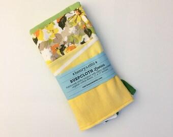 Organic Burp Cloth - Eco Baby Gift - Burp Cloth - Eco Friendly Baby - Upcycled Baby - Upcycled Baby Gifts - Floral Baby Gift - Green Baby