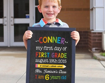 Last day of school sign, School sign, Back to School sign, First day of Kindergarten, Last day of school, First day of school chalkboard