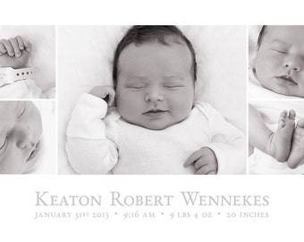 birth announcement template 5x7 baby birth announcement storyboard instant download