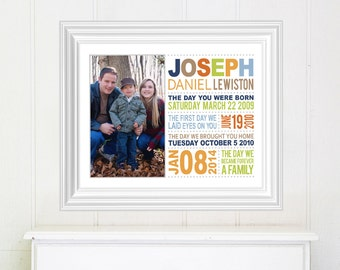 Adoption Gift, Adoption Dates Art, Adoption Art, Adoption Keepsake, Unique adoption gift, gift for an adopted child from parents
