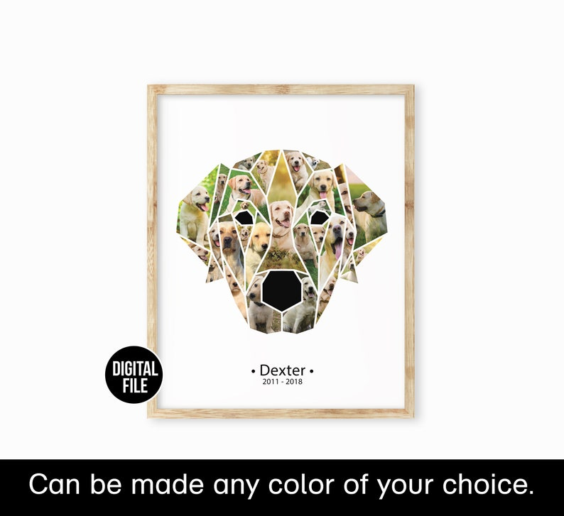 pet loss gift dog portrait dog passed away gift dog mom gift christmas dog lover gift personalized geometric pet portrait photo collage