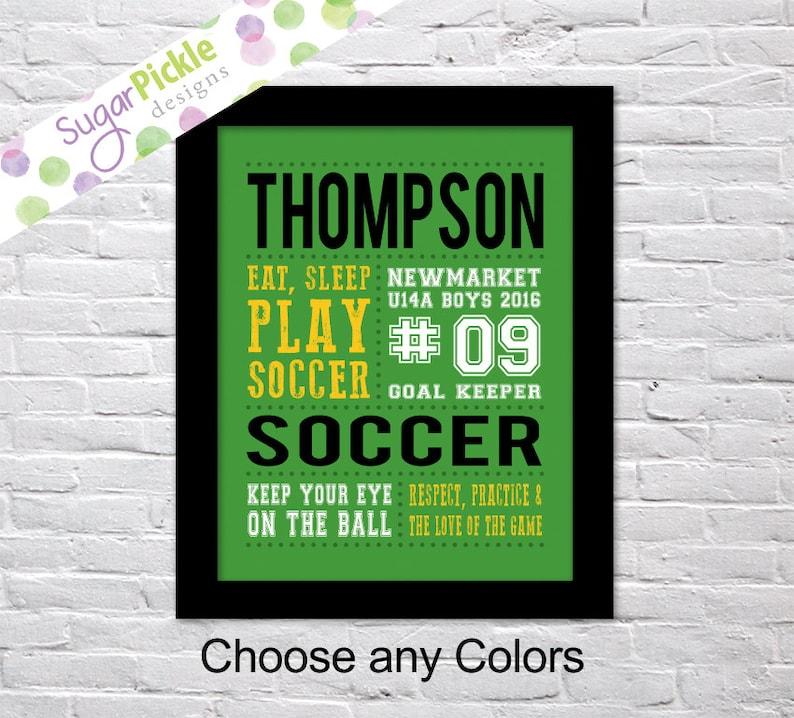 Soccer Print, Soccer art, Soccer Subway Art, Soccer Stats Art, Soccer Wall  Art, Soccer printables, Team Gift, Personalized,