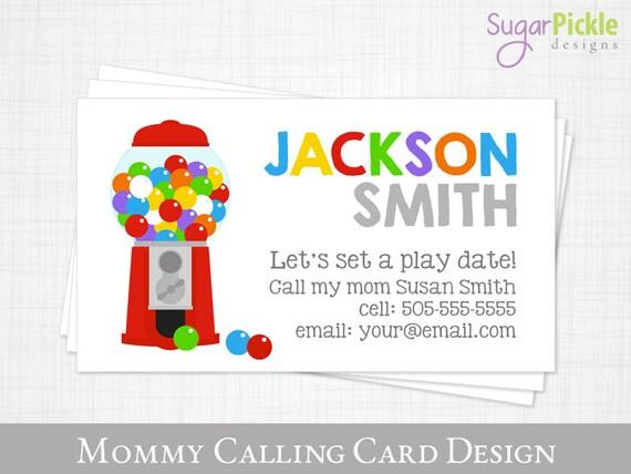 Mama Visitenkarte Spielen Datum Karte Kaugummi Kugel Kinder Visitenkarte Visitenkarte Für Mütter Mutter Von Karten Kind Visitenkarte Druckbare