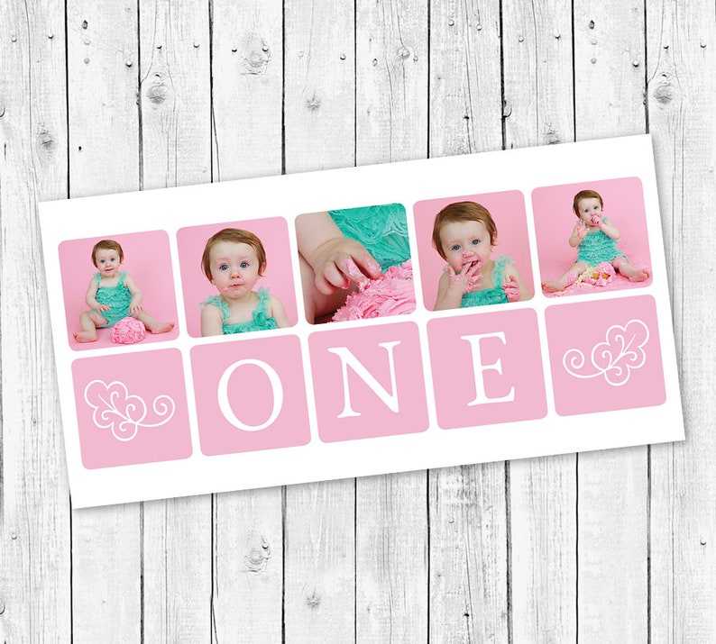 First Birthday Cake Smash Storyboard Photoshop Template