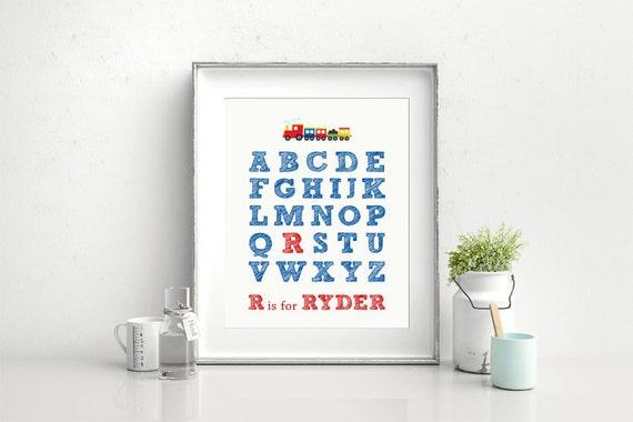 Nursery Wall Art Printable Alphabet Nursery Print