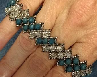 Blue and Crystal bracelet