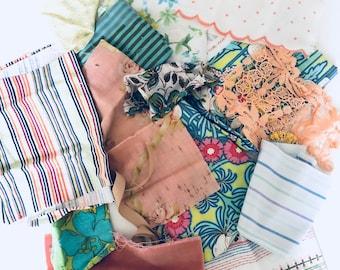Fabric stash garden colors