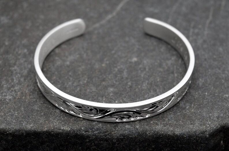 Engravable Silver Cuff Bracelet Engraved Bracelet Custom Engraved Personalized Bracelet Solid Silver Engraved Bracelet Custom Hand Engraved