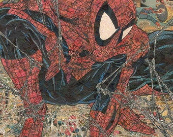 Spider-Man (after McFarlane) Comic Collage - Giclee Print