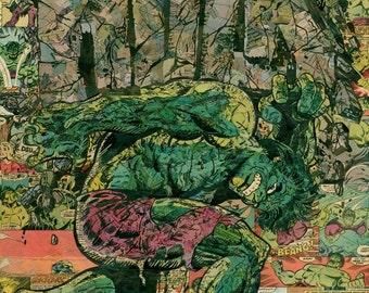 Hulk Annual Comic Collage - Giclee Print