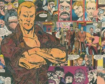 Doc Savage Comic Collage - Giclee Print