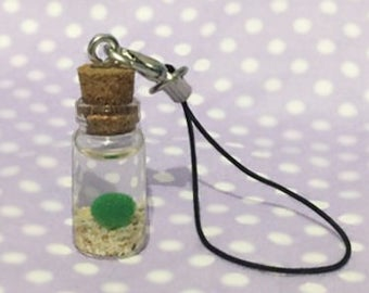 Faux Marimo Mini Bottle Charm