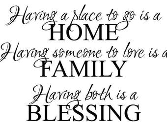 Having a Place to Go Wall Decal   Custom Wall Vinyl Graphic   Wall Lettering   Words   Saying   Quotes   Made to Order