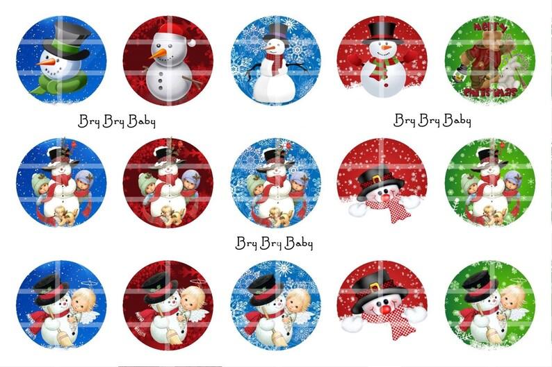 snowman Christmas 1  bottle cap images BCI
