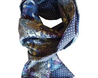 liberty scarf mauvey purple and gray