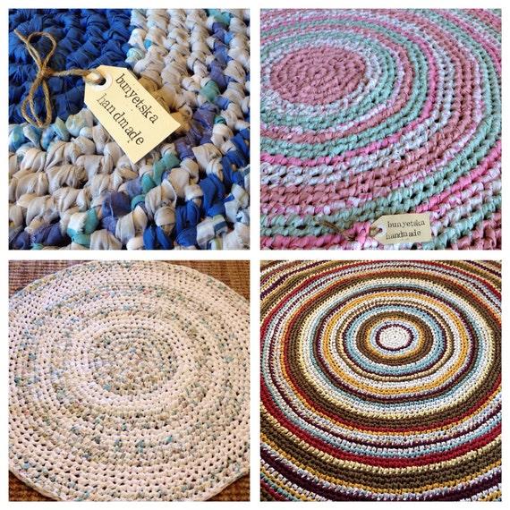 Rag Rugs For Sale Australia: Custom Order Your Crochet Floor Rag Rug Using Vintage