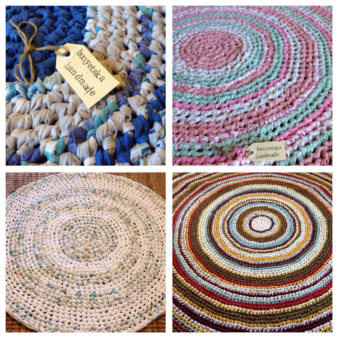 Custom Order Your Crochet Floor Rag Rug Using Vintage
