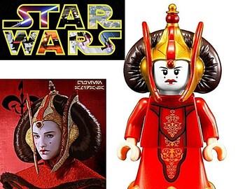 B344 Star wars Episode I Queen Amidala Minifigure Starwars Minifig Custom Lego Compatible