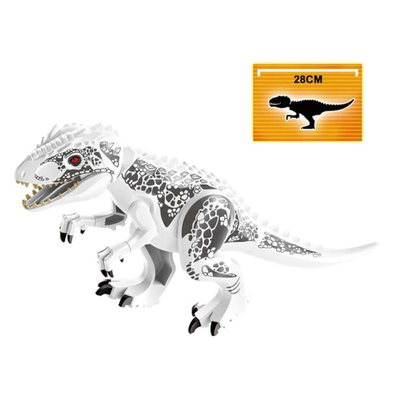Large Indominus Rex Jurassic World Dinosaur Lego Minifigure Raptor Toys Set BP