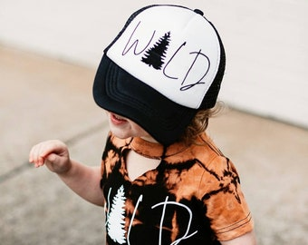 Wild Outdoorsy Toddler Hat Kid's Mesh Trucker Hat Kids Cap Child Baby Girl Hat Boy Hats Cool Kids Baseball Hat Trendy Hipster Hat Liv & Co.™