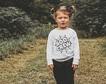 Boo Crew Halloween Sweatshirt For Kids | Halloween Shirt | Halloween Outfit | Halloween Toddler Shirt | Girl or Boy Halloween | Liv & Co.™