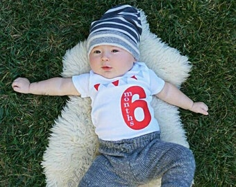 377513528 Baby Boy or Girl Half Birthday Outfit
