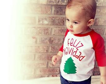 826efa3673 Feliz Navidad Shirt, Baby Boy Clothes, Baby Girl Clothes, Christmas Shirts  Kids, Christmas Baby Outfit, Toddler Christmas Shirt, Liv & Co.™