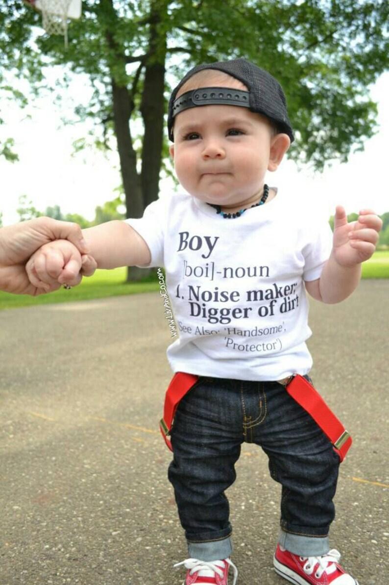 The Original Boy Definition Newborn Infant Baby Boy Bodysuit image 0