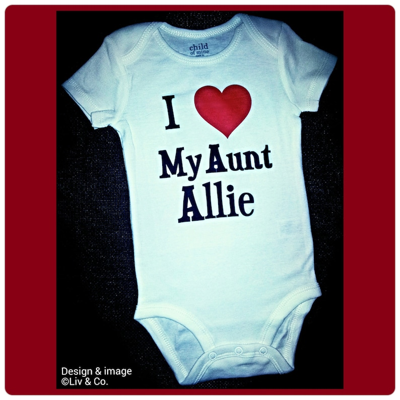 f046f8aa0ae5 I Love My Aunt Infant Boy or Infant Girl Bodysuit Outfit | Etsy