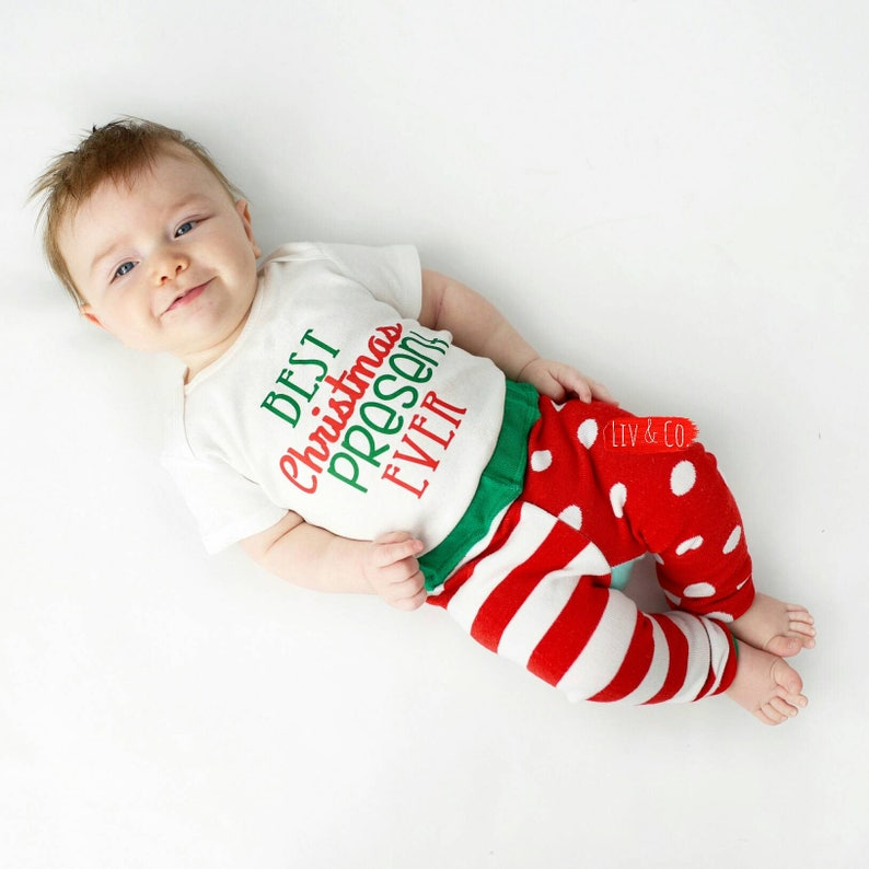 Sameno Baby Christmas Layette Set,Infant Baby Girls Boys Christmas Xmas Letter Romper Bodysuit Pants Outfits Set