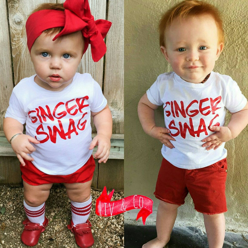 233b737e9962ca Ginger Swag™ Funny T Shirts Baby Boy Clothes Baby Girl Clothes