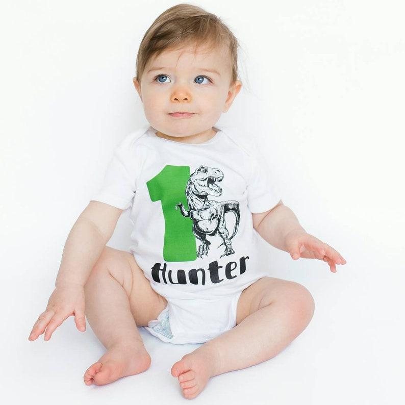 24edf8399e24 1st Birthday Boy Dinosaur Birthday Shirt First Birthday Boy
