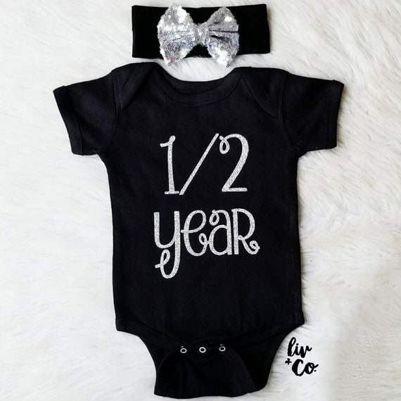 6 Month Photo Outfit Girl 6 Month Birthday Outfit Girl Six Month Baby Outfit Half Birthday Girl Baby Girl Gift Monthly Milestone \u00a9Liv /& Co.\u2122
