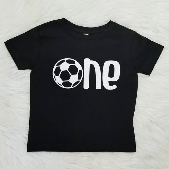 1st Birthday Boy Soccer First Shirt