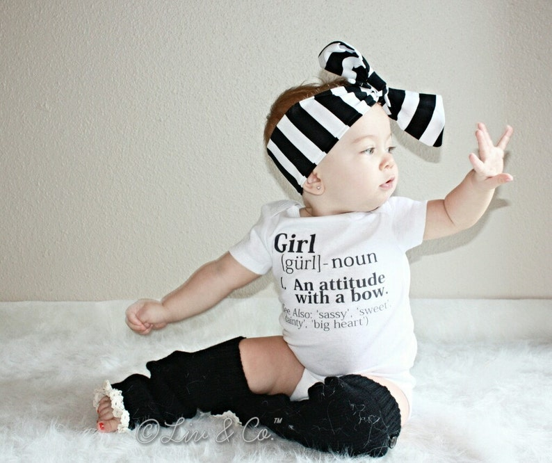 Girl Definition Baby Girl Bodysuit Outfit Newborn Girl Outfit image 0