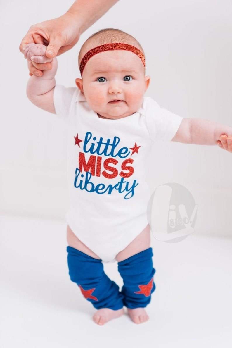 4th of July Baby Girl Outfit Patriotic Infant Newborn Baby 1st image 0