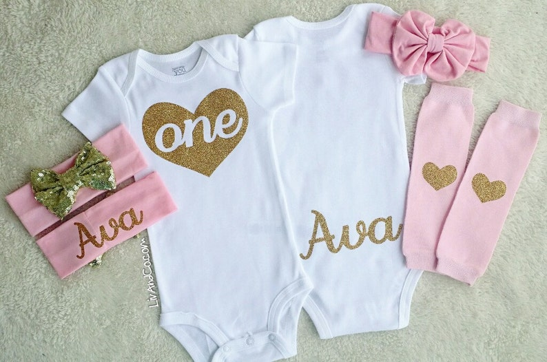 1ede4310e Personalized 1st Birthday Girl Outfit One Year Old Girl