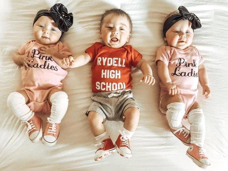 Grease Pink Ladies Halloween Costume Infant Newborn Baby image 0