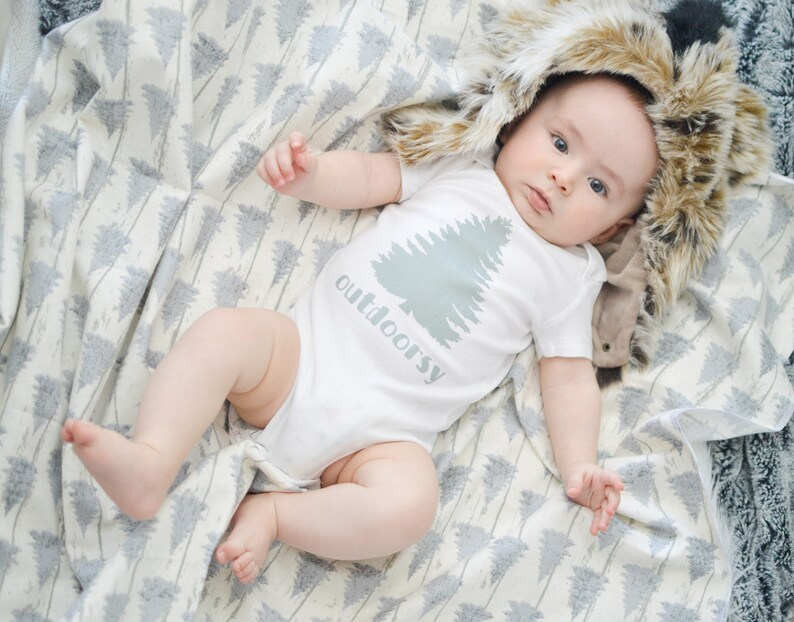 347697a72775 Outdoorsy Baby Blanket Baby Outfit Baby Clothes Baby Gift